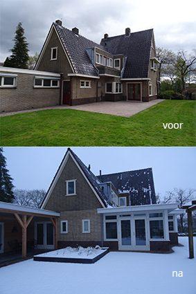Aanbouw aan woonhuis